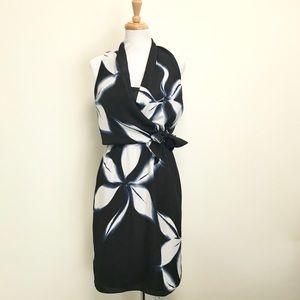 Tahari Floral Wrap Top Dress 8
